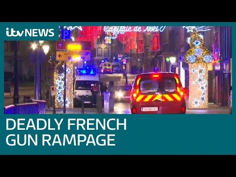 Four dead and several injured in Strasbourg Christmas market shooting | ITV News