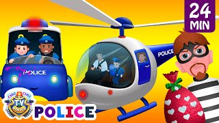 ChuChu TV Police Thief Chase - Police Car, Helicopter, Bike  ...
