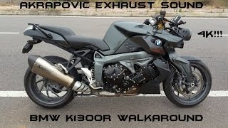 9. BMW K1300R Walkaround/Akrapovic Exhaust Sound In 4K!!!