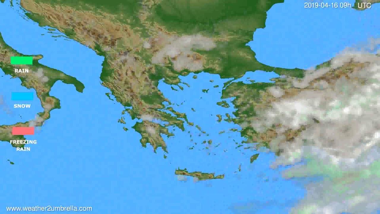 Precipitation forecast Greece // modelrun: 12h UTC 2019-04-14