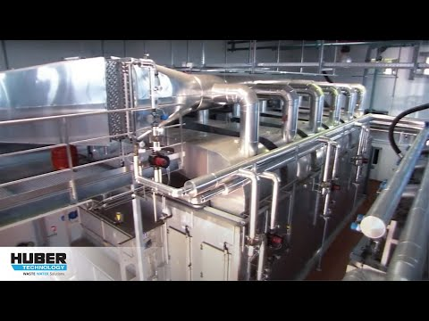 Video: HUBER Belt Dryer BT for medium temperature sewage sludge drying