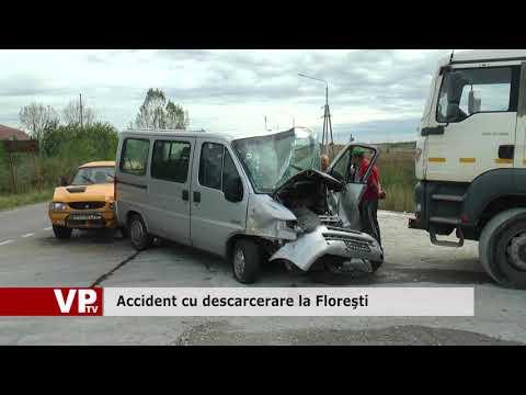 Accident cu descarcerare la Floreşti
