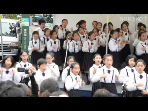 神戸、東北つなぐ歌声 神戸マラソン15日号砲
