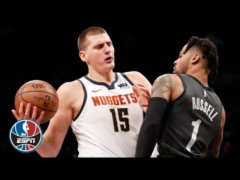 Video: D'Angelo Russell and Nikola Jokic battle it out in Nets' win over the Nuggets | NBA Highlights