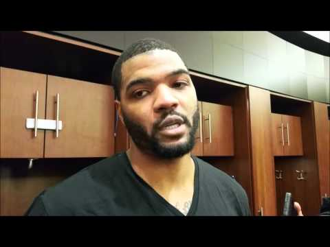 Josh Smith after making his return to the Houston Rockets