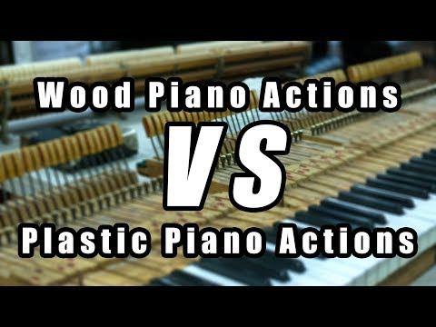Wood Piano Actions Vs. Plastic Piano Actions
