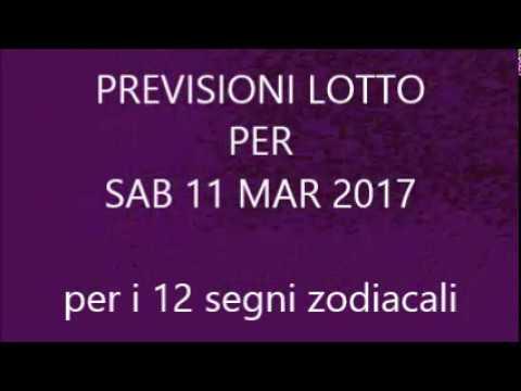 Previsioni per il Lotto ★ Estrazione Sabato 11 Marzo 2017