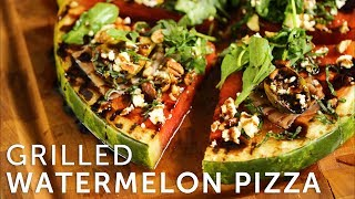 This is the perfect summer appetizer for your next gathering!  We sear the watermelon & fresh figs over the infrared of the Fire Magic Aurora, then top the watermelon pizza with prosciutto, feta, roasted pecans, basil, arugula & balsamic glaze.Featured Grill : https://www.bbqguys.com/fire-magic/aurora-a660s-30-inch-freestanding-propane-gas-grill-with-one-infrared-burner-analog-thermometer-and-single-side-burner-a660s-5lap-62