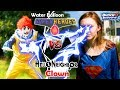 The Hello Neighbor Clown Vs Water Balloon Superheroes and Granny