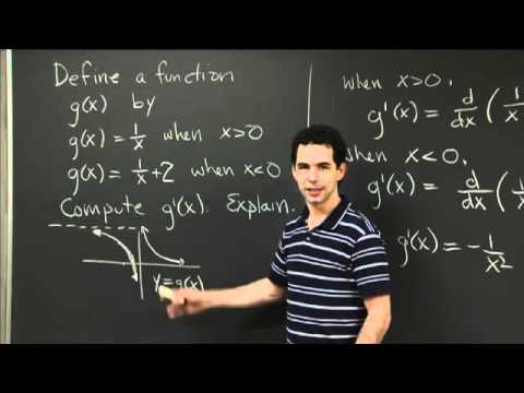 Antidiff. With Discontinuity | MIT 18.01SC Single Variable Calculus, Fall 2010