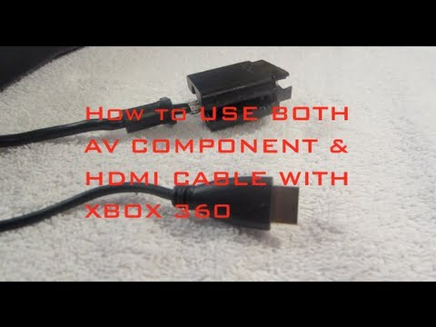 how to hdmi cable xbox 360