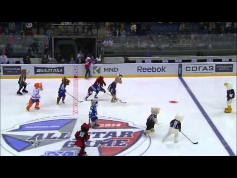 KHL All Star: Шоу маскотов / Mascot show (видео)