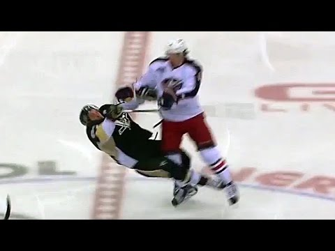 Video: Johansen levels Crosby with big hit