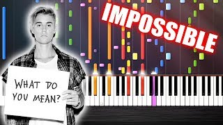 Justin Bieber - What Do You Mean? - IMPOSSIBLE PIANO