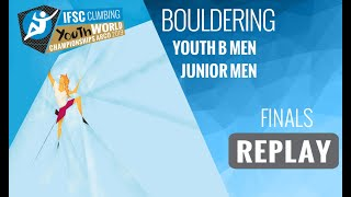 IFSC Youth World Championships - Arco 2019 - BOULDER - Finals - Youth B Men - Junior Men by International Federation of Sport Climbing