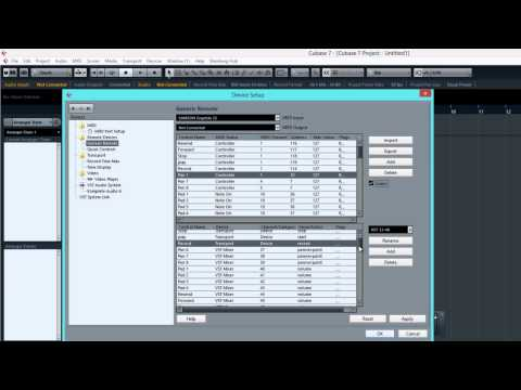 MIDI Mapping Your Controller in Cubase 7 – Audio Mentor