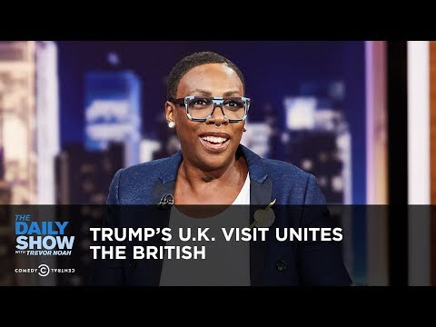 Trump's U.K. Visit Unites the British   The Daily Show (видео)