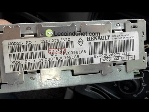 how to enter a radio code in a renault clio