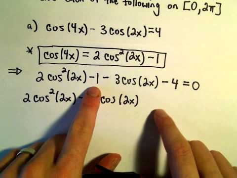 Identities - Using Double Angle Identities to Solve Equations, Example 1. In this video, I use some double angle identities for sine and/or cosine to solve some equations...
