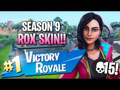 "Season 9 ""Rox"" Skin!! 15 Elims!! - Fortnite: Battle Royale Gameplay"