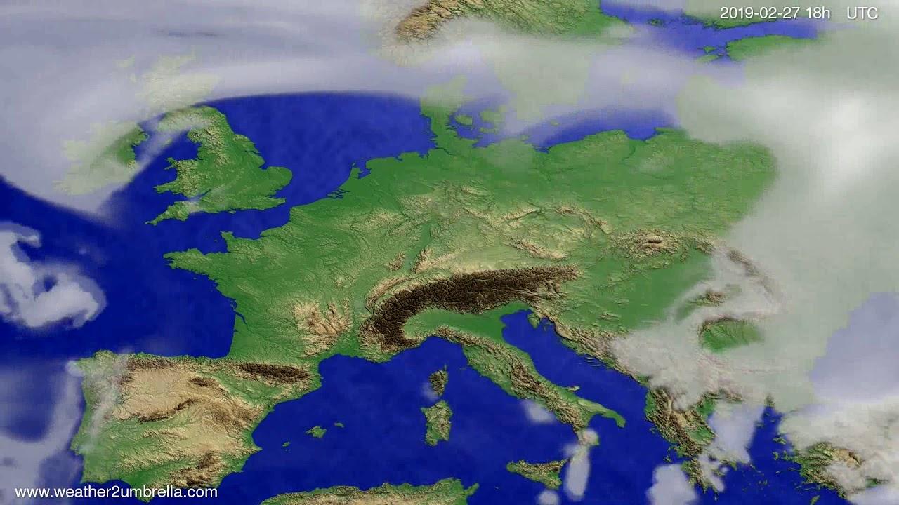 #Weather_Forecast// Cloud forecast Europe 2019-02-26