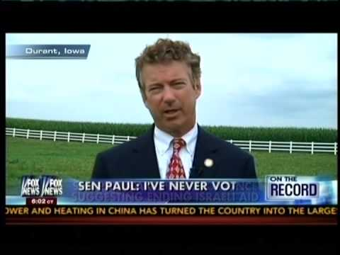 Jew Sycophant Rand Paul: Israelis Don't Burn American Flags