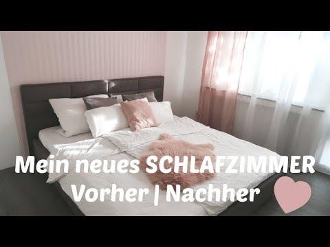 NEUES SCHLAFZIMMER   Vorher / Nachher   Renovieren   Tapeten runter   Neues Bett