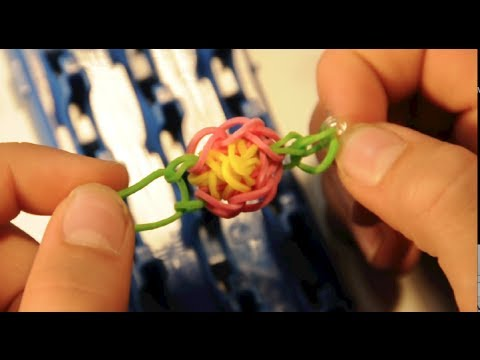 VIDEO Instruction:  Rubber band TOE RING  FLOWER with  Cra z Loom rubber band jewelry maker