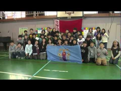 海外サッカー選手・和久井秀俊 仙台小学校の学校訪問