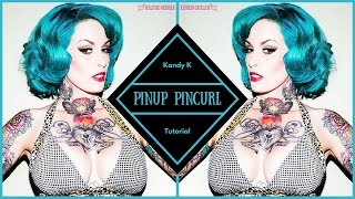 Retro Pinup Short Hair Pin Curl Tutorial - YouTube
