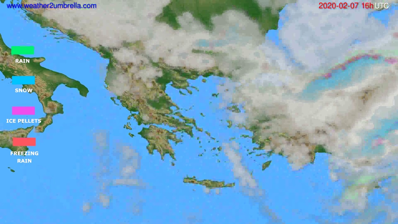 Precipitation forecast Greece // modelrun: 12h UTC 2020-02-06