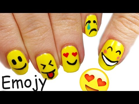 nail art- tutorial emoticon
