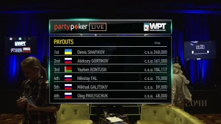 WPT RUSSIA Main Event Final Table