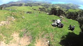 Banks Peninsula New Zealand  city images : More Motorcycle Adventure riding, Banks Peninsula, New Zealand