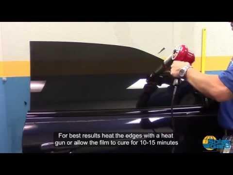 Tinting car door micro edges with Solar Gard