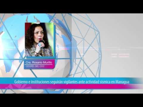 Gobierno e instituciones seguirán vigilantes ante actividad sísmica en Managua
