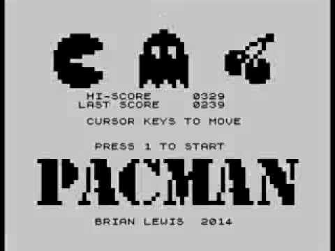 Hires Pacman on a real ZX81