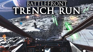 Star Wars Battlefront | Luke's Death Star Trench Run in the Red Five X-wing Gameplay