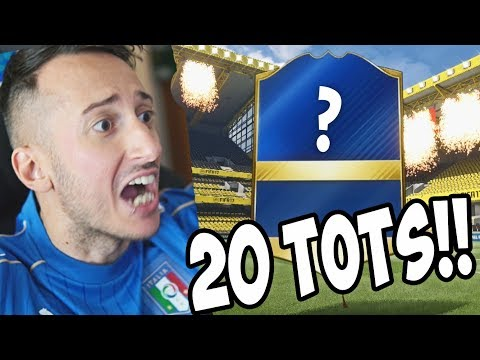 20 TOTS IN 20 PACCHETTI! INCREDIBILE +95 TOTS WALKOUT - Pack Opening Fifa 17