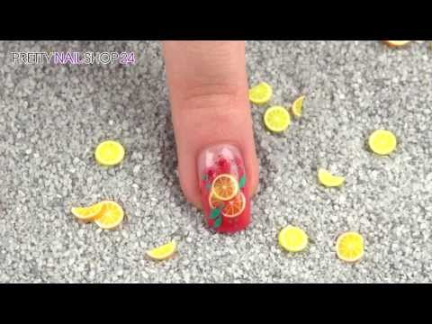 Jolifin Fimos: fresh and fruity Fimo Nailart