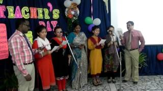 A song on Teachers Day. Lyrics By Mr. Abraham, Music Composed by Mr. Jones and sung by Sacred Heart School Teachers