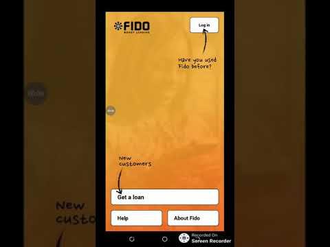 How to apply for loan on Fido Money Lending App.