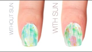 Dry Brush Color-Changing Nail Art Design