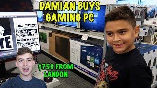 Video DAMIAN BUYS a GAMING PC   LANDON GIVES HIM $750   D&D SQUAD MP3, 3GP, MP4, WEBM, AVI, FLV Januari 2019