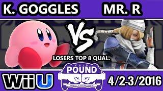 Pound 2016 – LLL | Mr.R (Sheik) Vs. Kid Goggles (Kirby, Sonic) Top 16 – Smash Wii U – Smash 4