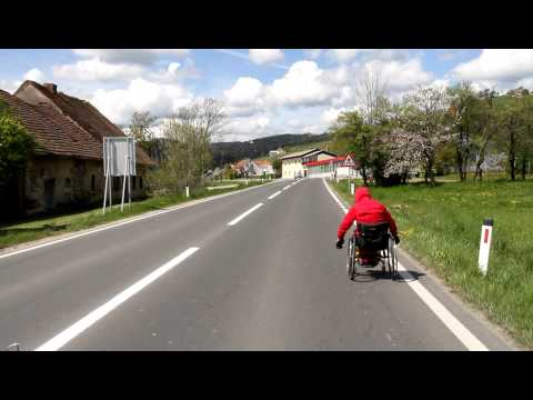Macedonian athlete on wheelchair ultra-marathon to London