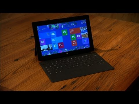 Microsoft Tablet - http://cnet.co/TVivzi Surface excels at productivity, thanks to its comfortable keyboard accessory and the inclusion of Office 2013 preview. More apps would ...