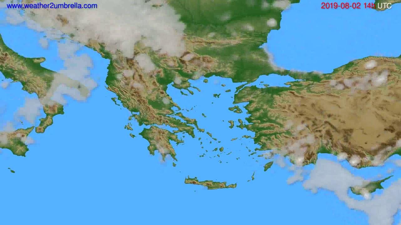 Cloud forecast Greece // modelrun: 00h UTC 2019-07-31