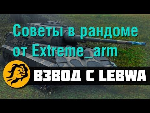 Советы в рандоме от Extreme_arm. Взвод с LeBwa (видео)