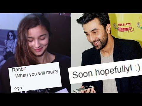 Ranbir Kapoor ANNOUNCES His Marriage, Is Alia Bhat